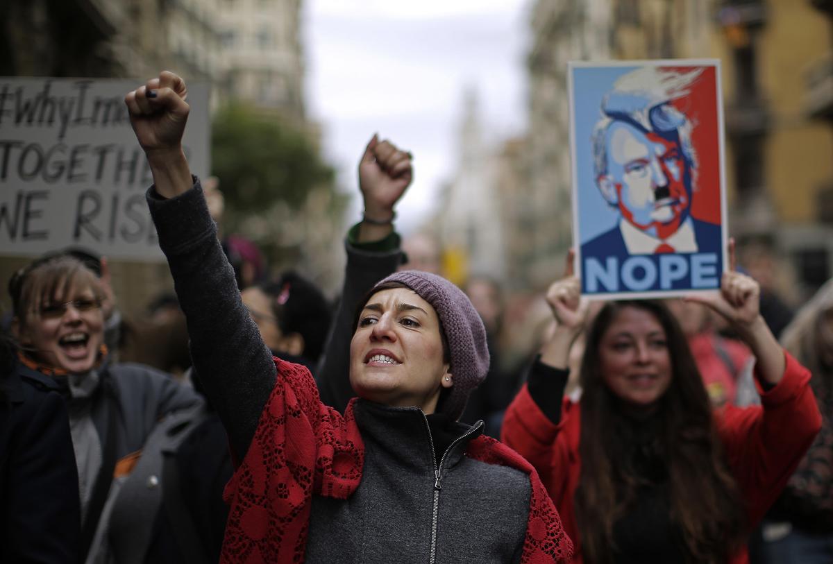 Spain Trump Women'sMarch